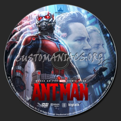 Ant-Man dvd label
