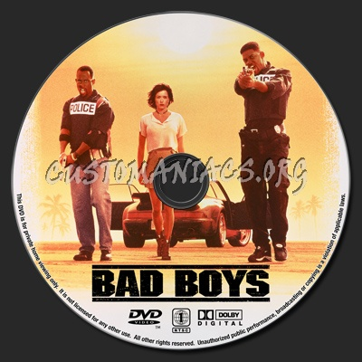 Bad Boys dvd label