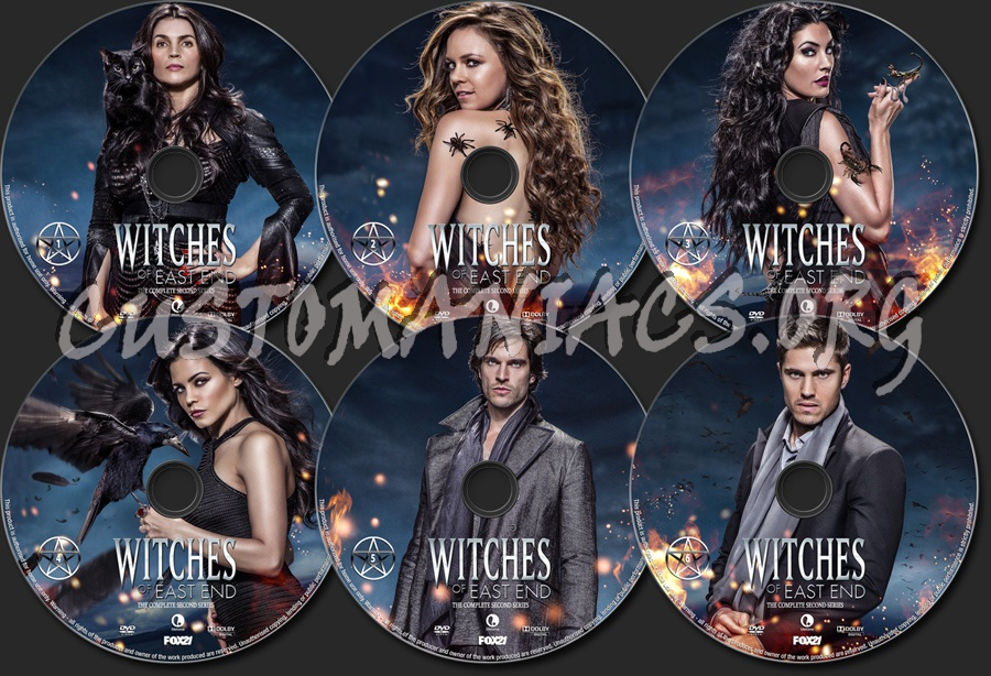 Witches Of East End Season 2 dvd label
