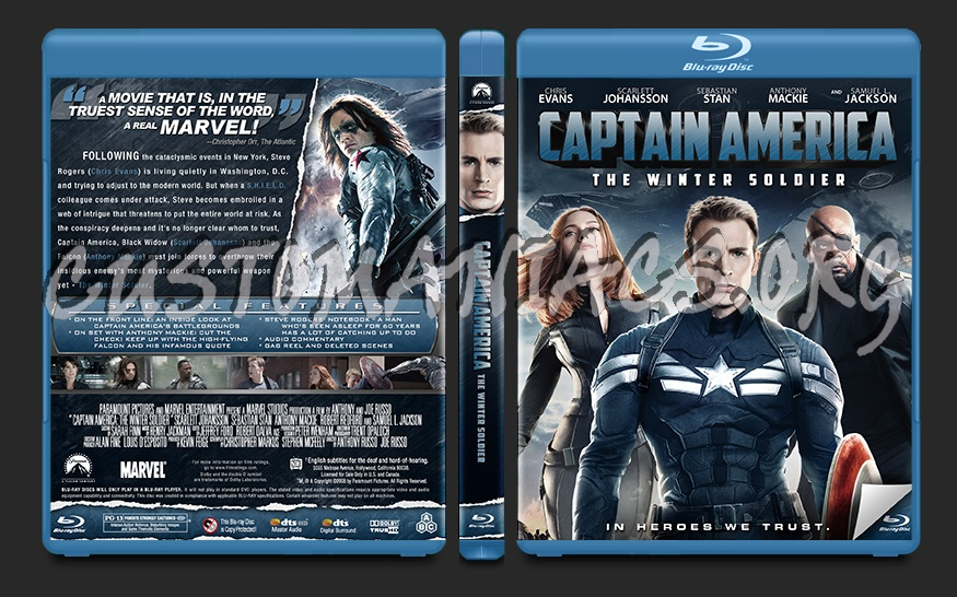 Captain America The Winter Soldier blu-ray cover