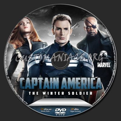Captain America The Winter Soldier dvd label