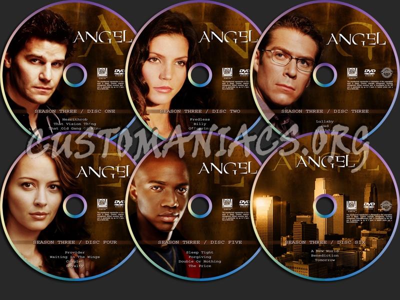 Angel Season Three dvd label