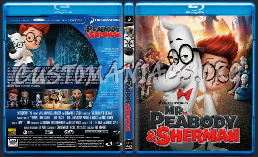 Mr. Peabody & Sherman - Animation Collection blu-ray cover