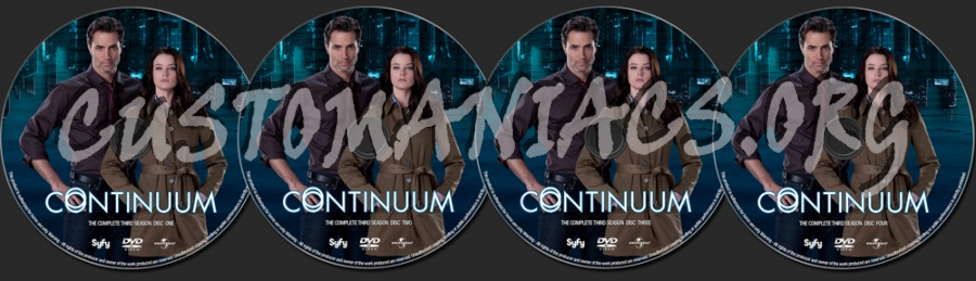Continuum Season 3 dvd label
