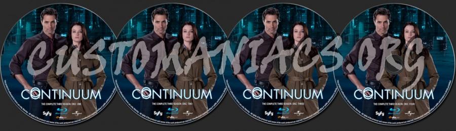 Continuum Season 3 blu-ray label