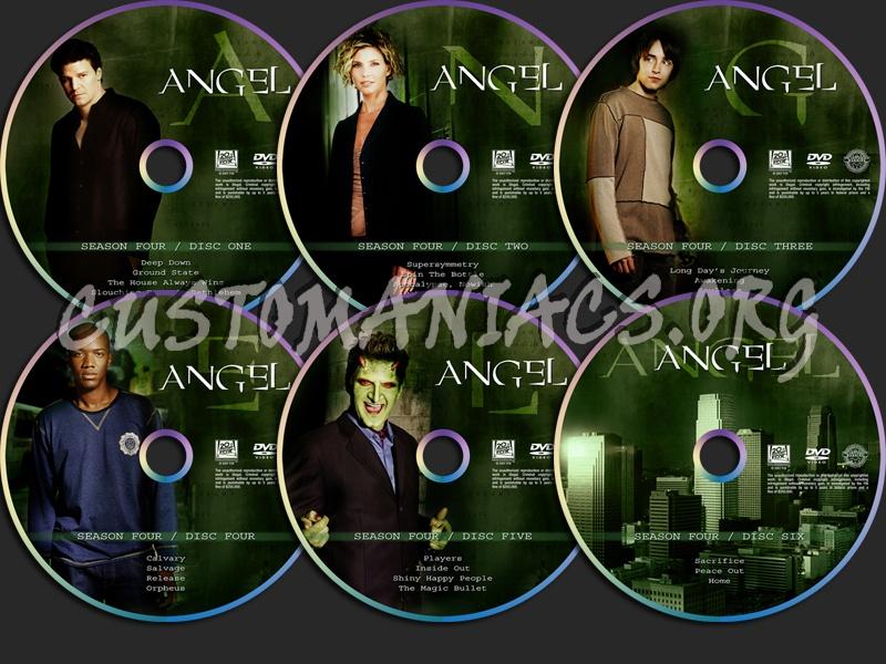 Angel Season Four dvd label