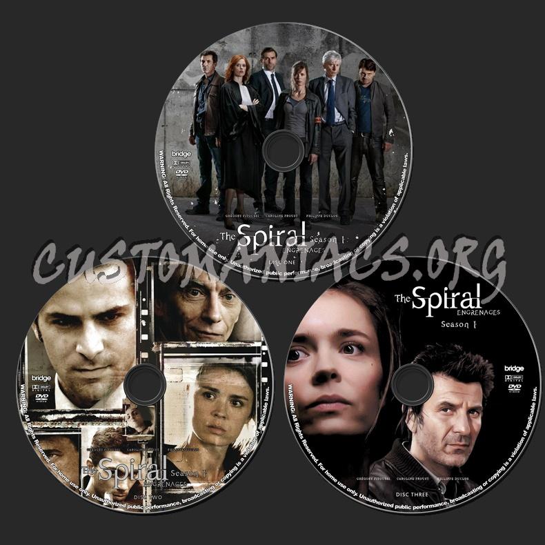 The Spiral (Engrenages) - Season 1 dvd label