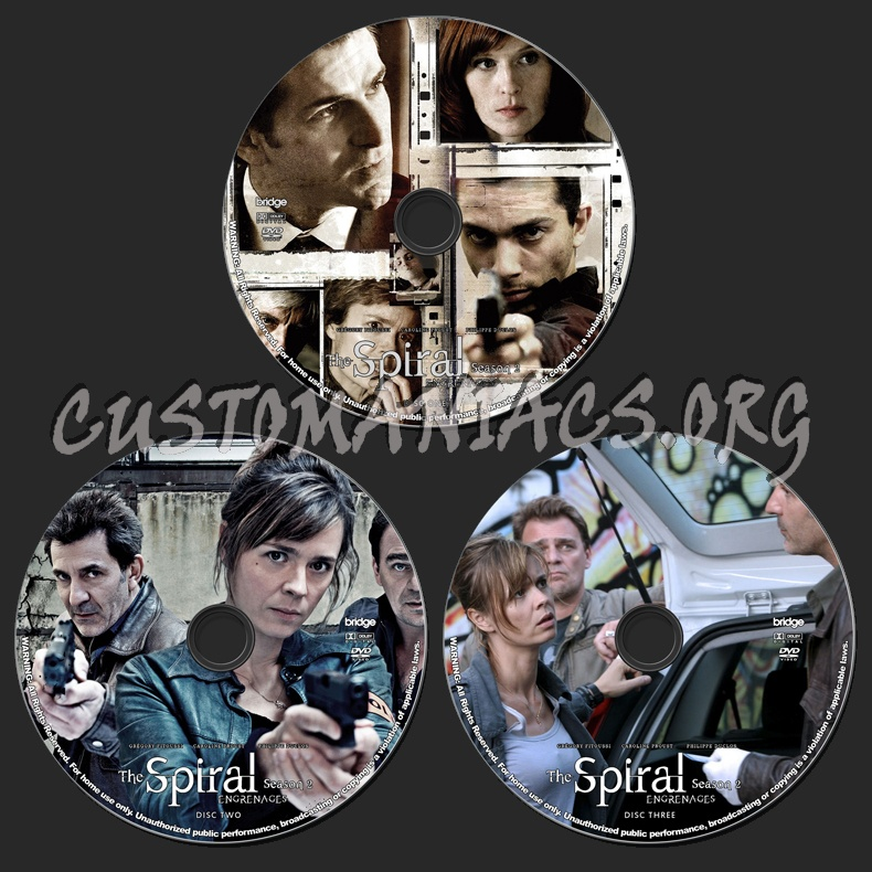 The Spiral (Engrenages) - Season 2 dvd label