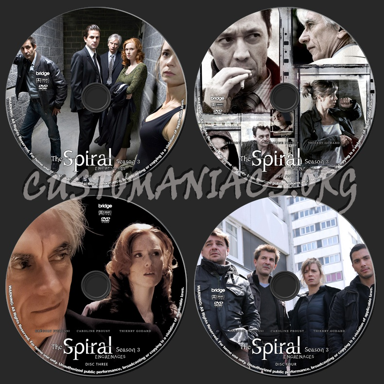 The Spiral (Engrenages) - Season 3 dvd label