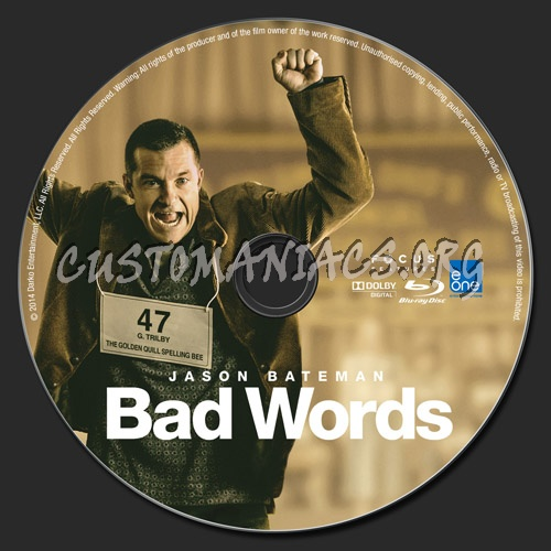 Bad Words blu-ray label