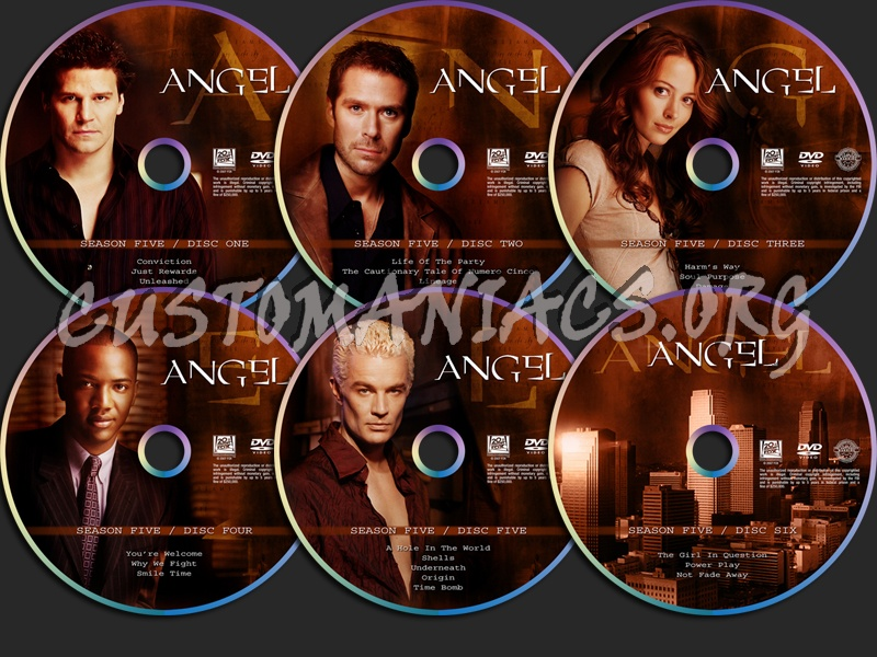 Angel Season Five dvd label