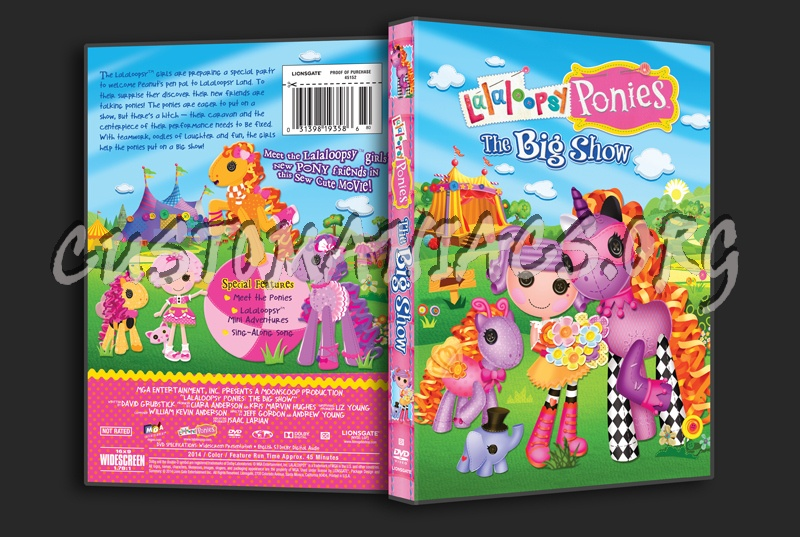 Lalaloopsy Ponies The Big Show Dvd Cover Dvd Covers