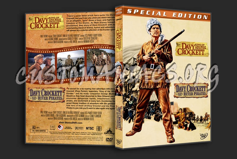 Davy Crockett Double Feature dvd cover