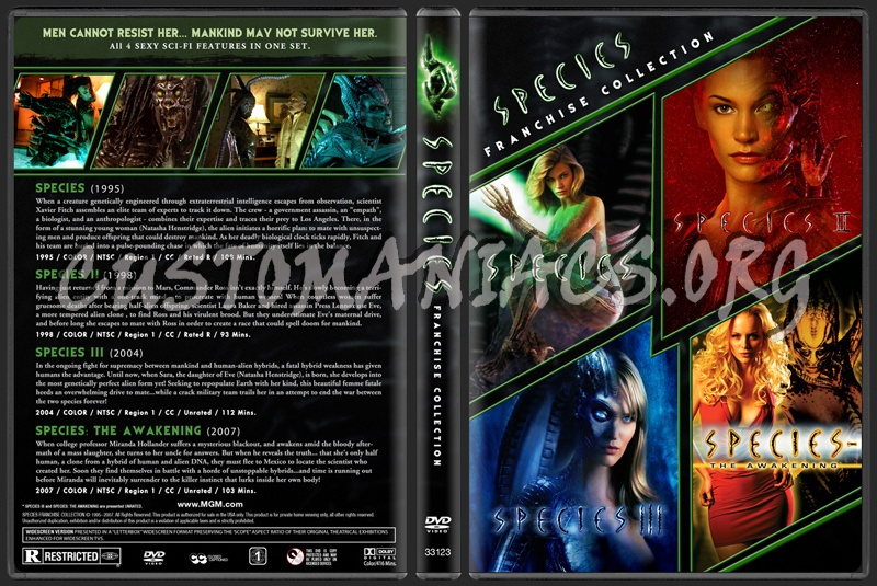 Species - Franchise Collection dvd cover