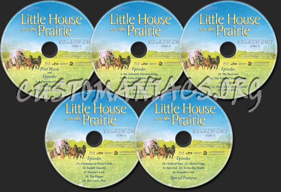 Little House on the Prairie Season 1 blu-ray label