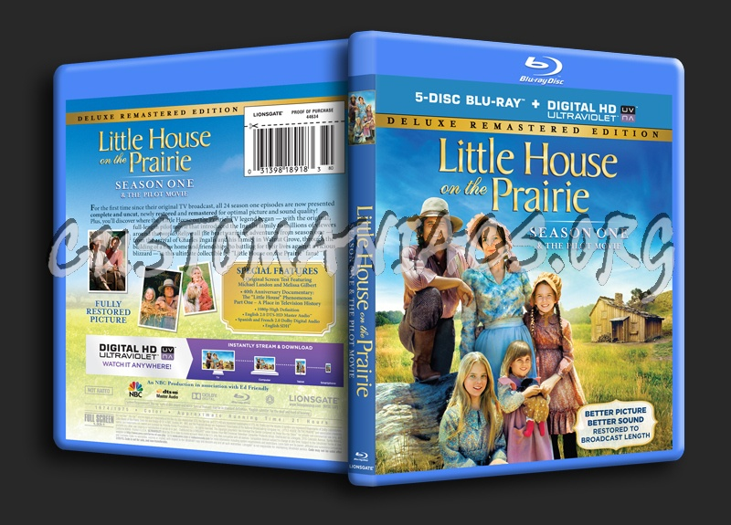 Little House on the Prairie Season 1 blu-ray cover