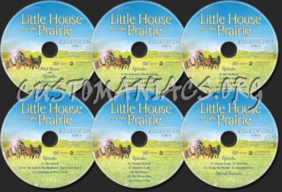 Little House on the Prairie Season 1 dvd label