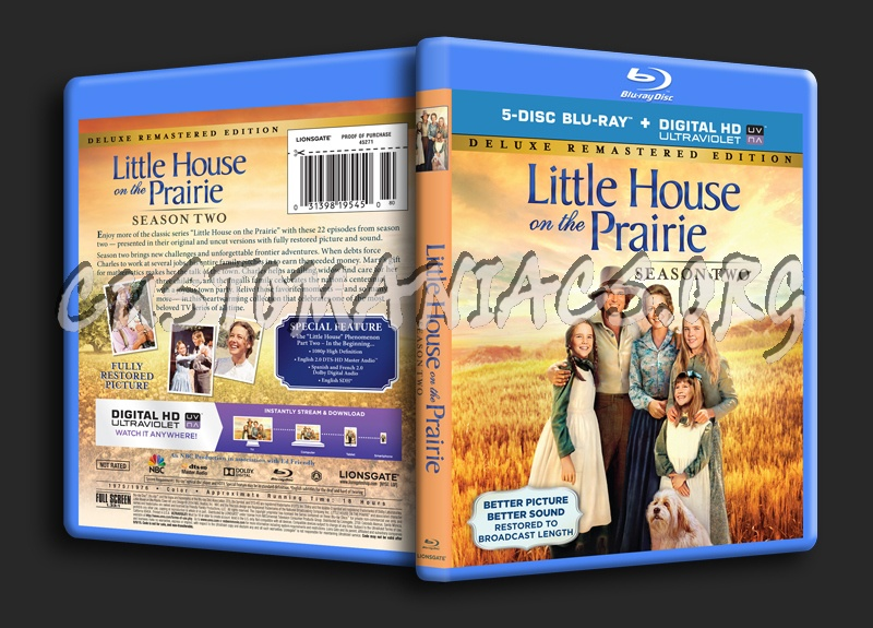 Little House on the Prairie Season 2 blu-ray cover