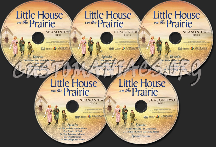 Little House on the Prairie Season 2 dvd label