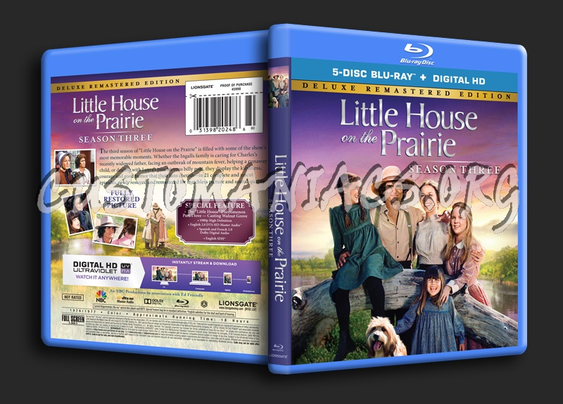 Little House on the Prairie Season 3 blu-ray cover