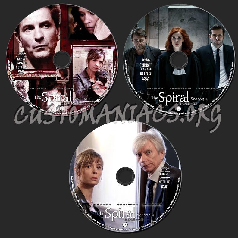 The Spiral (Engrenages) - Season 4 dvd label