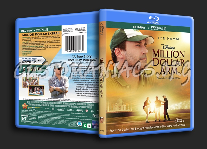 Million Dollar Arm blu-ray cover