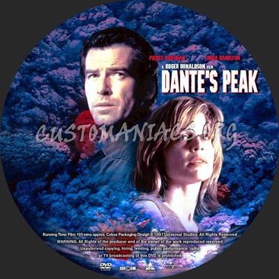 Dante's Peak dvd label