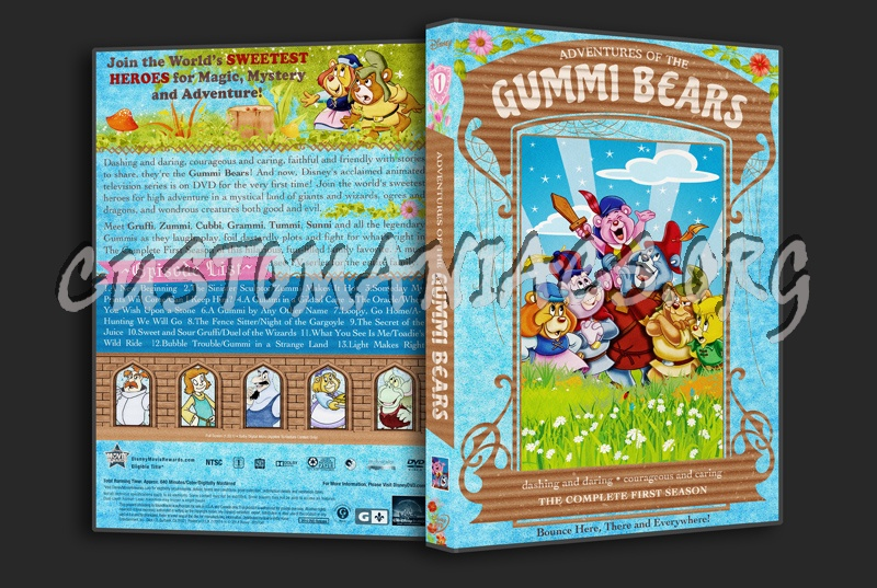 Adventures of the Gummi Bears Season 1 2 3 4 5 6 dvd cover