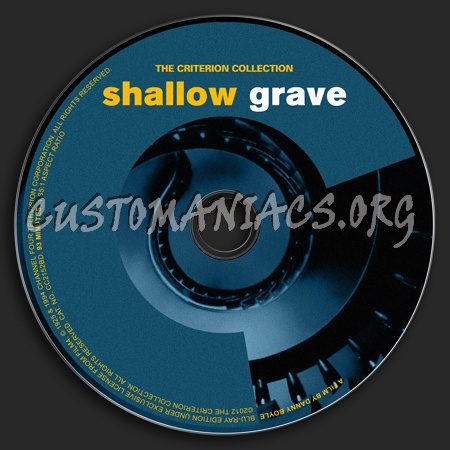 616 - Shallow Grave dvd label