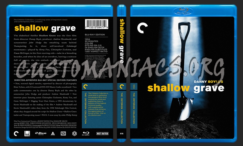616 - Shallow Grave blu-ray cover