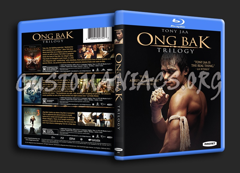 Ong Bak Trilogy blu-ray cover