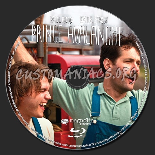 Prince Avalanche blu-ray label