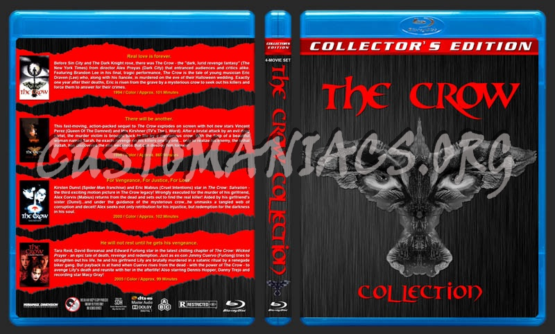 The Crow Collection blu-ray cover