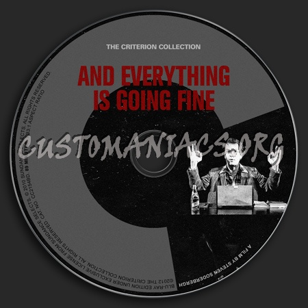 617 - And Everything Is Going Fine dvd label