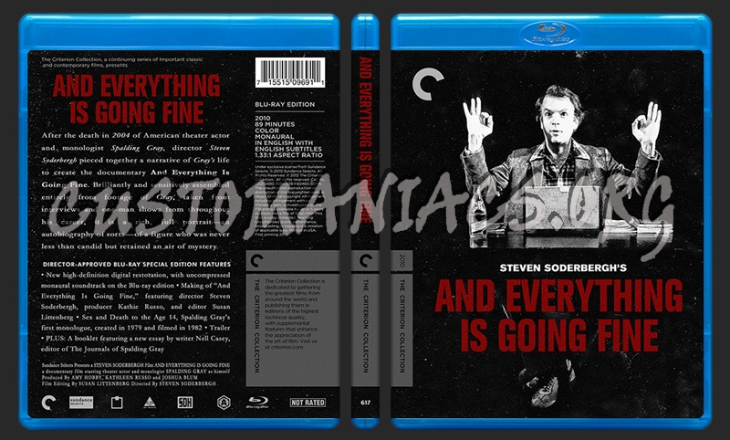 617 - And Everything Is Going Fine blu-ray cover