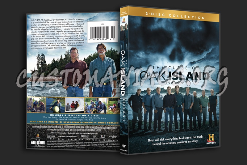 The curse of oak island season 1 dvd cover dvd covers amp labels by