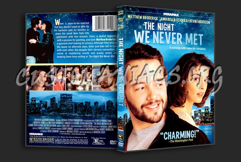 The Night We Never Met dvd cover