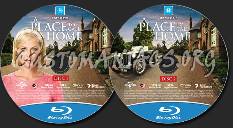 A Place To Call Home Season 2 blu-ray label