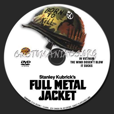 Full Metal Jacket dvd label