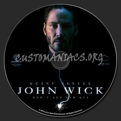 John Wick blu-ray label