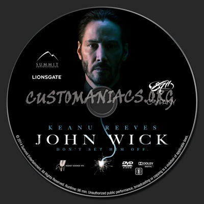 John Wick dvd label