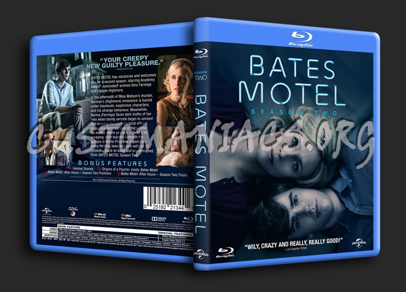 Bates Motel Season 2 blu-ray cover