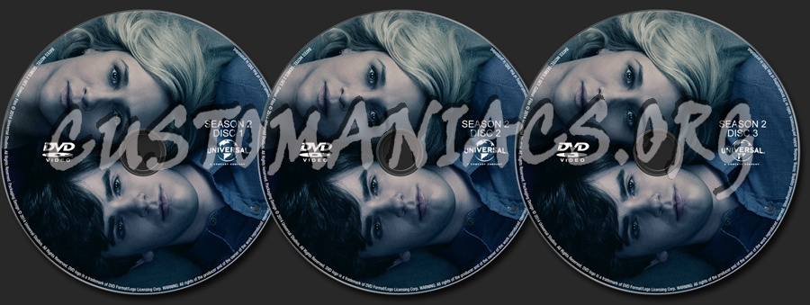 Bates Motel Season 2 dvd label