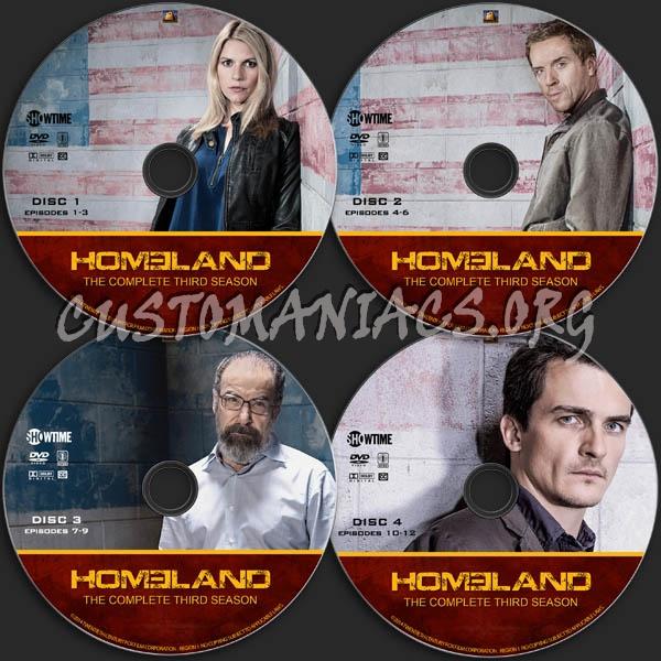 Homeland - Season 3 dvd label