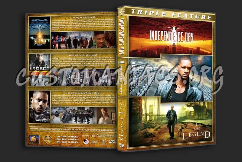Independence Day / I, Robot / I Am Legend Triple dvd cover