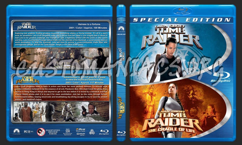Tomb Raider Double Feature blu-ray cover