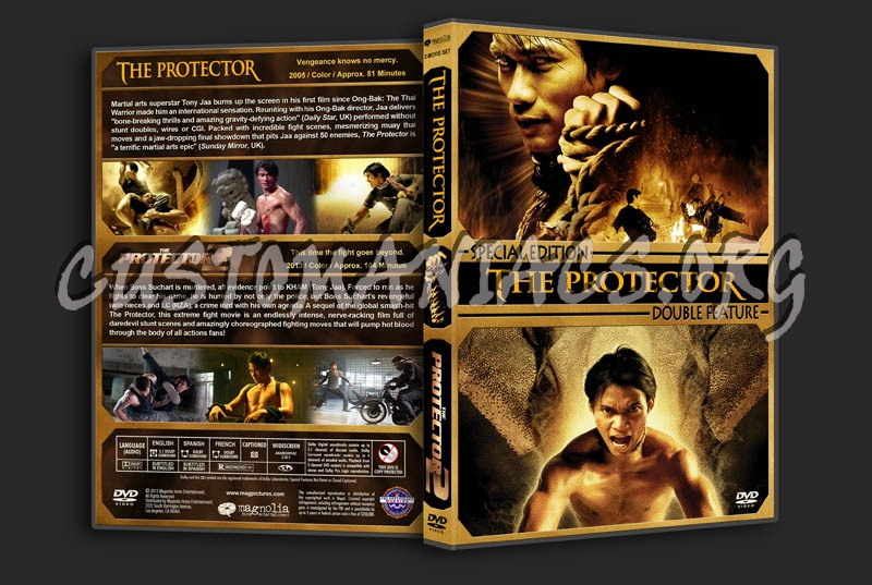 The Protector Double Feature dvd cover