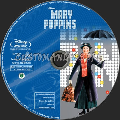 Mary Poppins dvd label
