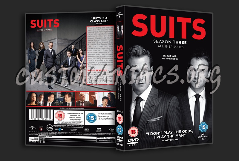 Suits Season 3 dvd cover