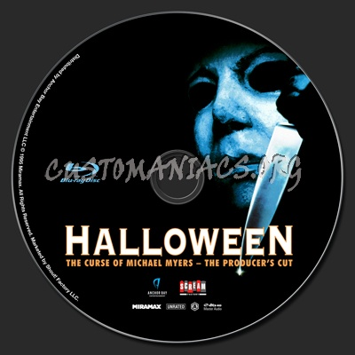 Halloween The Curse Of Michael Myers Producer's Cut (Halloween 6) blu-ray label